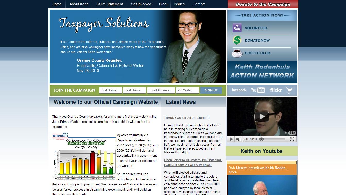 Keith Rodenhuis for OC Treasurer